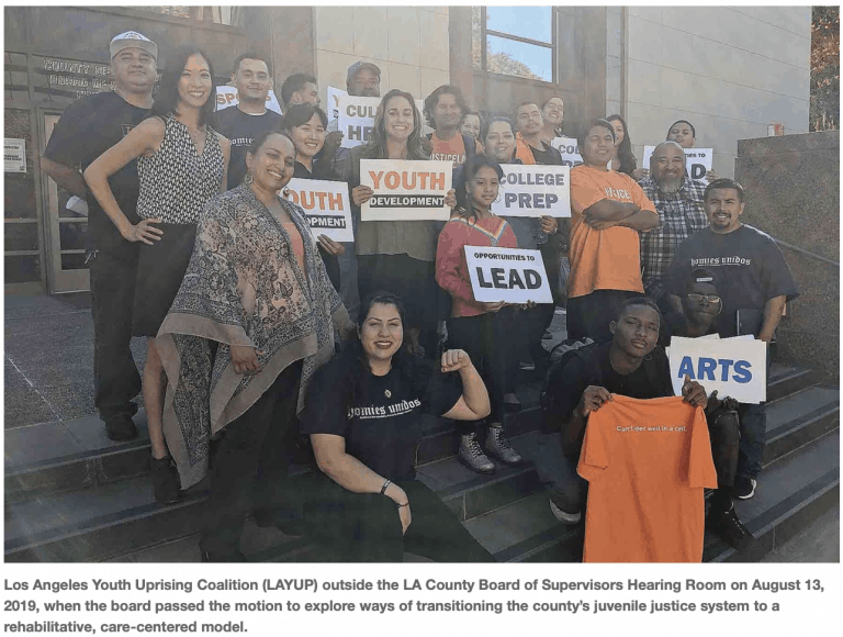 LA County Votes To Reimagine Youth Justice